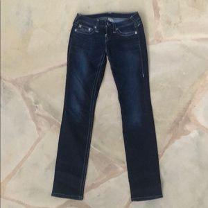 True Religion Dark Skinny Jeans 26